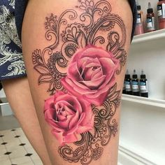 25+ best ideas about Pink flower tattoos on Pinterest   Pink tattoos, Blue  orchid tattoo and Watercolor flower tattoos