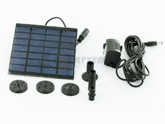 Solar Powered Water Fountain Pump - Great For Yard Ponds $25!