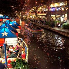 Riverwalk, San Antonio - we like to do dinner down here when we're in town for work. A few amazing places for margaritas!