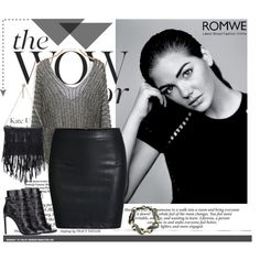 Romwe by aurora-australis on Polyvore featuring moda, Yves Saint Laurent, Alasdair and romwe