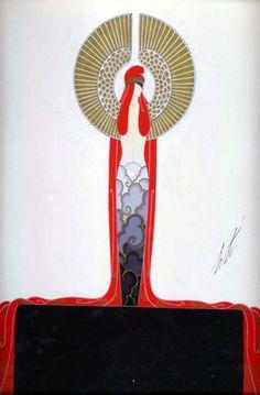 Fashion Design for the Diamond in Les Pierres precieuses, Folie - Bergeres, Paris 1923, by  Erte