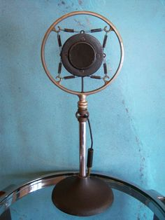 Vintage RARE 1930's Amplion 4 M Carbon Spring Microphone Old Deco Ring and Stand | eBay