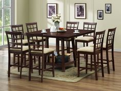 Katelyn Modern Pub Table Set - 7 Piece Modern Dining Set