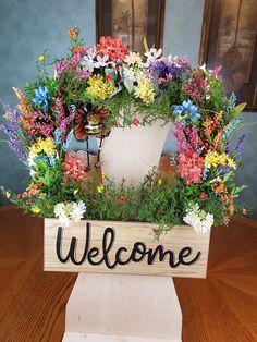 Welcome Wreath Spring Wreath Every day Wreath Seasonal