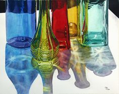 Cathy Hillegas - Iridescence,Watercolor