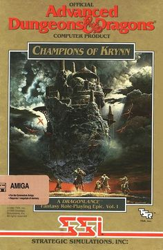 Champions of Krynn was my first Amiga game and the reason my Amiga 500 got a RAM upgrade. Unlike the PC & versions here you could modify custom sprites and make your own unique characters. This was only Amiga game for a long time. Dungeons And Dragons Art, Advanced Dungeons And Dragons, Pen And Paper Games, Pc Engine, Vintage Games, Retro Games, D Book, Video Game Art, Video Games