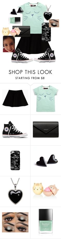 """""""Averie Style (little sister)"""" by glamourgirl0416 ❤ liked on Polyvore featuring Max&Co., Converse, Balenciaga, Mr. Gugu & Miss Go, Lord & Taylor and Butter London"""