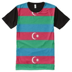 Flag of Azerbaijan All-Over Print T-Shirt
