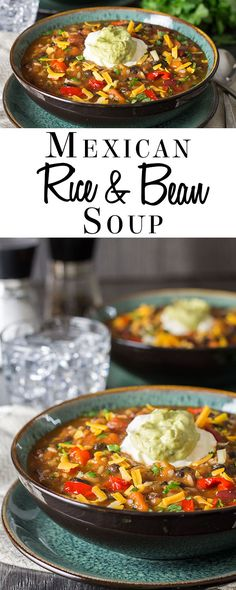 Mexican Rice & Bean Soup