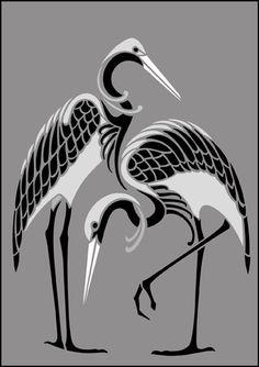 deco art crane - Google Search