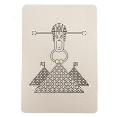 Carte postale à colorier Pyramides du Louvre, collection Paris Wistiworld | Baby Prestige