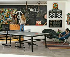 Gameroom... eeh, i like the concept but the colors are wrong and the pingpong table needs to be replaced with a pool table.
