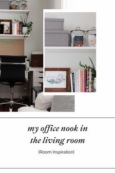 "If you are working from home and don't have a dedicated room for a home office, you can get creative like I did and set up an office nook in your home. Click through to see how I turned an unused corner of my living room into a functional ""office nook"". Office Nook, Home Office, My Living Room, Home And Living, Family Room, Home And Family, Nest Design, Bright Rooms, Best Desk"