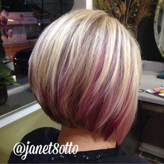 "72 Likes, 3 Comments - New Creations Salon (@newcreationskc) on Instagram: ""Pink Peekaboos & highlights, with super cute cut by @janet8otto @newcreationskc ! #prettyhair…"""