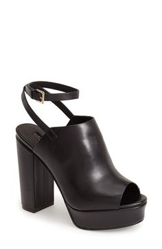 Topshop 'Sagittarius' Leather Ankle Strap Open Toe Platform Sandal (Women) | Nordstrom