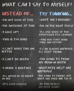 Instead of... Try thinking this...
