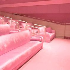 Pink velvet movie theatre in Miami