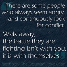 How to handle angry people. . .