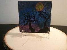 Trees In Moon Light by TsWorldOfArt on Etsy, $8.00