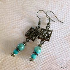 Turquoise Bohemian Earrings by MangoTease