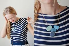 Curious and Catcat: Make a statement! - Part 2: The blue polymer clay necklace