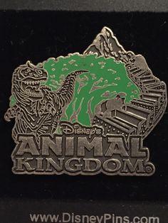 Animal Kingdom Icons Pewter-like Logo Disney Pin