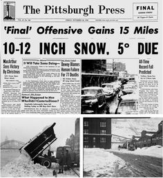 The Thanksgiving Storm of 1950 Was One Of The Most Deadly In Pittsburgh's History
