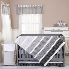 Ombre Gray Baby Bedding by Trend Lab