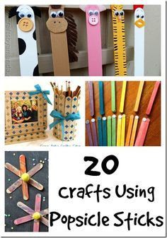 20 Crafts Crafts Using Popsicle Sticks... Getting Crafty With @Popsicle Over 20 Popsicle Sticks Craft Ideas #PopsicleRules   by Momstart What can you do with them? We've collected 20 different Popsicle Stick crafts from around the internet including on that can be found in Popsicle's Summer Rules For Being A Kid Guidebook is now available and I encourage you to visit the site www.popsiclerules.com read the book, and download it to read with your kids....