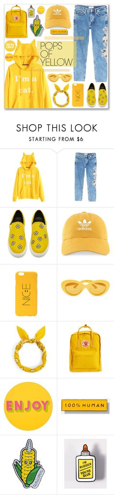 """""""Yellow"""" by cowseatchard on Polyvore featuring MANGO, adidas, Fjällräven, Lisa Perry, Everlane, PopsOfYellow and NYFWYellow"""
