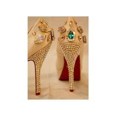 Jewel Shoes....... Christian Louboutin, LeSilla, Loriblu via Polyvore