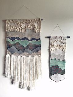Icelandic Inspired Wall Hanging Medium by WildWeft on Etsy