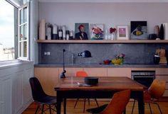 Ambiance vintage pour cette cuisine ouverte - Ouvrir la cuisine sur la salle à manger : les 30 idées gagnantes - CôtéMaison.fr