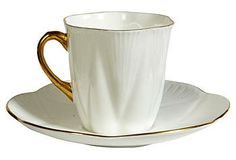 English  White Cup & Saucer