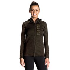 Outerwear Women, Jackets Online, Heather Black, Running, Clothes For Women, Hoodies, How To Wear, Fashion, Moda