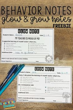 How To Use Simple Behavior Notes To Improve Your Classroom Management