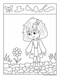 These easy hidden pictures are perfect for pre-K and kindergarten age kids who love to color. They are also great for kids who love the challenge of finding . Preschool Writing, Preschool Worksheets, Kindergarten Activities, Kindergarten Age, Art Drawings For Kids, Easy Drawings, Spring Activities, Activities For Kids, Spanish Language Learning