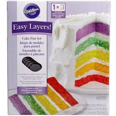 Save yourself the trouble of torting your cakes to make a trendy, multilayered cake. By using this set of six-inch pans, you can make a five-layer cake with ease! One cake mix or a single batch of bat