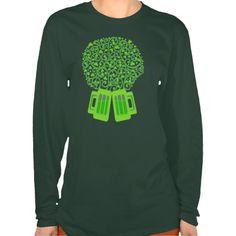 St. Patricks Day Irish Green Beer Shamrock T-Shirt @zazzle