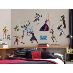 RoomMates RMK1382SCS Star Wars: the Clone Wars Glow in the Dark Wall Decals, Pack of 28 RoomMates http://www.amazon.com/dp/B002WRGYN6/ref=cm_sw_r_pi_dp_BUd0ub1HZ1QH2