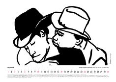 January 2016, erotic art by Robert Kuta, inspiration: Brokeback Mountain (2005) by Ang Lee. Order Museum of Eroticism Erotic Scenes Calendar only till January 16 (price: $20 + shipping from Poland) muzeumerotyzmu@gmail.com http://ero2015.tumblr.com/ Inside: erotic art, erotic feasts, anniversaries, eroticism personalities #ero2015 #eroticart #eroticism #erotic #calendar #erotyzm #erotyka #brokeback #lgbt #lbtq #art #bw #drawing #kalendarz #calendar #calendario #film #movie