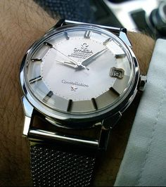 Omega Constellation Piepan Circa 1950s - mens gold dress watches, mens all black watches, brands of watches for mens