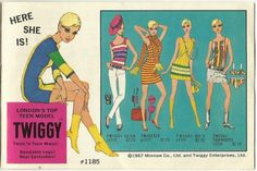 Advertisement for the Twiggy Barbie Doll, released by Mattel in 1967.    #twiggy #barbie #vintage