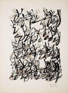 Brion Gysin Untitled '60 - Asemic writing: