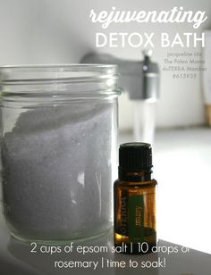 Rejuvenating Detox Bath with Rosemary Essential Oil! www.thepaleomama.com/essential-oils