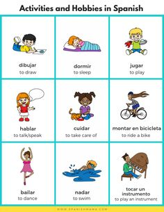 Spanish For Kids: Sports, Activities and Hobbies in Spanish - Bilingual Kidspot