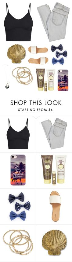 """sun bum"" by missemmaleigh20 ❤ liked on Polyvore featuring Current/Elliott, Casetify, Sun Bum, Hinge, ABS by Allen Schwartz and Marni"