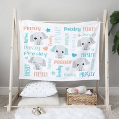 Our adorable personalized baby blankets make wonderful baby shower gifts, and we think any new mom would adore one! The perfect thoughtful baby gift for the new baby on the way. A personalized gift will be cherished and loved for years to come. Simply select your size and favorite fabric - lightweight, smooth fleece blanket, silky-soft Minky blanket, cozy-warm sherpa blanket or our swaddle blanket perfect for wrapping newborn babies.