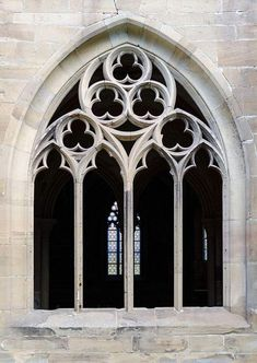 Maulbronn Monastery, detailed view of a window from the cloister; - Maulbronn Monastery, detailed view of a window from the cloister; Photo: Baden-Württemberg State P - Gothic Style Architecture, Cathedral Architecture, Ancient Greek Architecture, Classic Architecture, Historical Architecture, Architecture Details, Architecture Art, Architecture Definition, Architectural Engineering