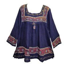 Indian Bohemian Embroidered Tie-Dye Long Sleeve Batik Tunic Blouse Cover-Up (Violet) Yoga Trendz http://www.amazon.com/dp/B00WKQ7F2I/ref=cm_sw_r_pi_dp_D3Yrvb1KSFGXP